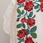 Vintage Embroidered Transylvanian Tablecloth